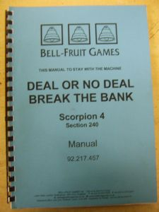 Deal or no Deal - Break the Bank - Scorpion 4 Manual